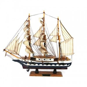 Модель парусника из дерева 50см-985