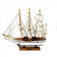 Корабль дерево 34см-833