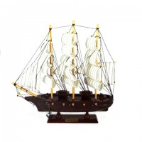 Корабль дерево 34см- 83