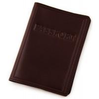 """Обложка паспорта (коричневый хамелеон) тиснение """"PASSPORT"""""""