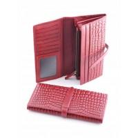 Самобытный кожанный кошелек Podium 2302 Red