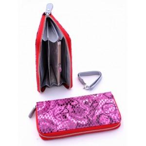 Блестящий кожаный кошелек для женщин Podium 00140-80947
