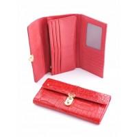 Своеобразный кожанный кошелек Podium 3004L Red