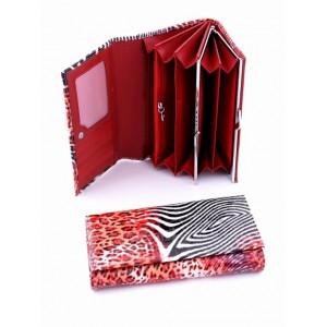 Яркое женское портмоне из натуральной кожи Podium 7001-30050