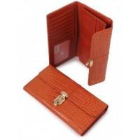 Причудливый кожанный кошелек Podium 3002-Orange