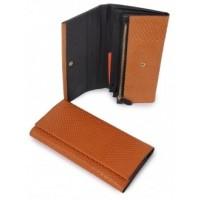 Необычайный кожанный кошелек Podium 3105-brown
