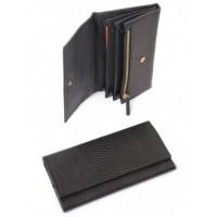 Самобытный кожанный кошелек Podium 3105-black