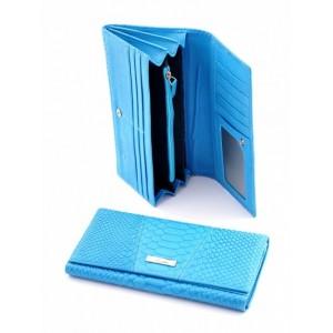 Удивительное женское портмоне из натуральной кожи Podium 812L Blue