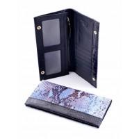 Красивое кожанное портмоне Podium 820L Blue