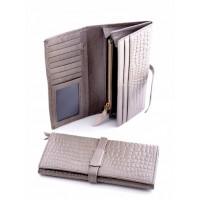 Своеобразный кошелек из натуральной кожи Podium 2302 Grey