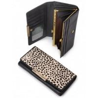 Своеобразный кошелек из натуральной кожи Podium B-60058-black leo