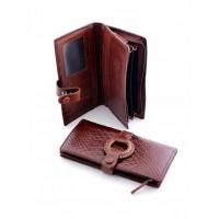 Затейливое кожанное портмоне Podium 5102 Coffee