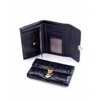 Забавный кошелек из натуральной кожи Podium 3004M Black