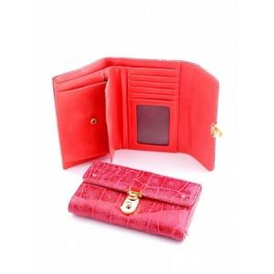 Необыкновенный женский кошелек из натуральной кожи Podium 3004M Red