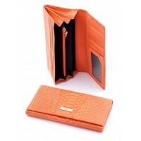 Чудное портмоне из натуральной кожи Podium 812L Orange