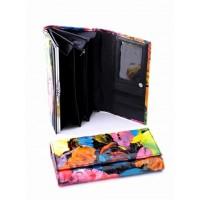 Прикольное портмоне из натуральной кожи Podium 7001-80949