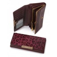 Восхитительное кожанное портмоне Podium B-60056-violet leo