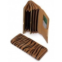 Стильный кошелек из натуральной кожи Podium B-60052-beige zebra