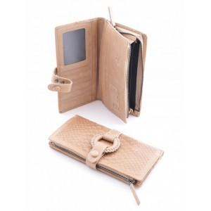 Стильный женский кошелек Podium 5102 Apricot, кожа