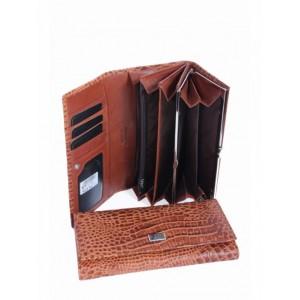 Дивный кожаный кошелек Podium A-00370 Coffee
