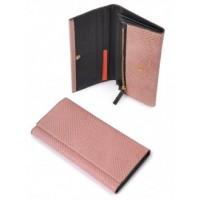 Причудливый кожанный кошелек Podium 3105-Pink