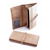 Экстравагантный кошелек из натуральной кожи Podium 2302 Apricot