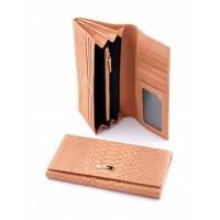 Щегольское портмоне из натуральной кожи Podium 812L Apricot