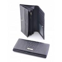 Бесподобное портмоне из натуральной кожи Podium 812L Black