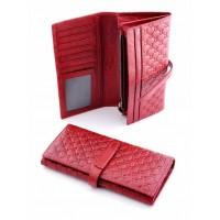 Полезный кошелек из натуральной кожи Podium 2308L Red