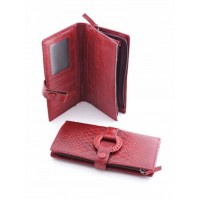 Причудливое кожанное портмоне Podium 5102 Red