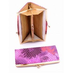 Яркое женское портмоне из натуральной кожи Podium 2004-80947