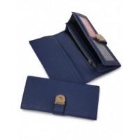 Интересный кошелек из натуральной кожи Podium 5401-blue