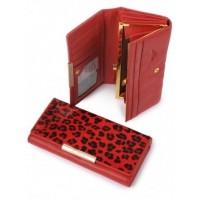 Оригинальный кожанный кошелек Podium B-60056-Red leo