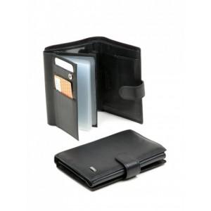Чудесный мужской кожаный кошелек Bretton FOCUS M1 Black