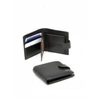 Великолепный мужской кожаный кошелек Bretton FOCUS M14 Black