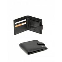 Изысканный мужской кошелек , натуральная кожа, Bretton FOCUS M4 Black