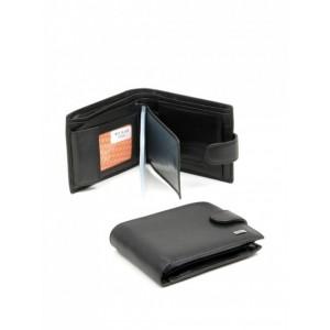 Практичный мужской кошелек , натуральная кожа, Bretton FOCUS M19 Black