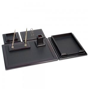 Подарочный настольный набор на 6 предметов, цвет темный шоколад.