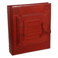 Кожаный фотоальбом с декоративным оформлением №020-07-01-13