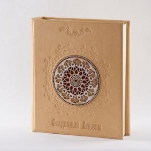 Свадебный кожаный альбом для фотографий №020-08-14-11