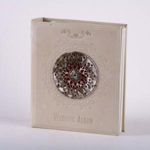 Кожаный свадебный фотоальбом №020-08-18-12