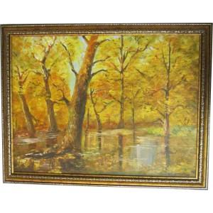 Картина «Золотая осень» маслом на холсте, 2011