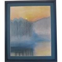 Картина «Туман» пастелью на бумаге, 2011