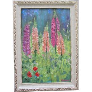 Картина «Летние цветы» маслом на холсте, 2013