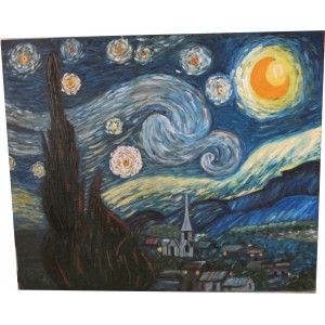Картина «По мотивам Ван Гога» масло, холст, 2013