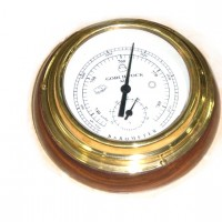 Классический барометр из латуни и дерева NI295A