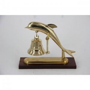 Настольный 4677А звонок в форме дельфина с колокольчиком