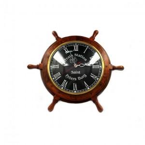 Настенные часы штурвал NI548