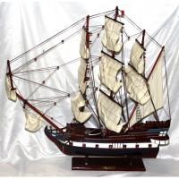 Деревянная модель парусника 80см-650