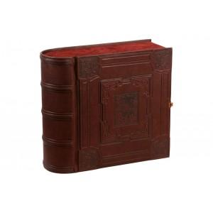 Шикарная книга-бар (отделка натуральная кожа)